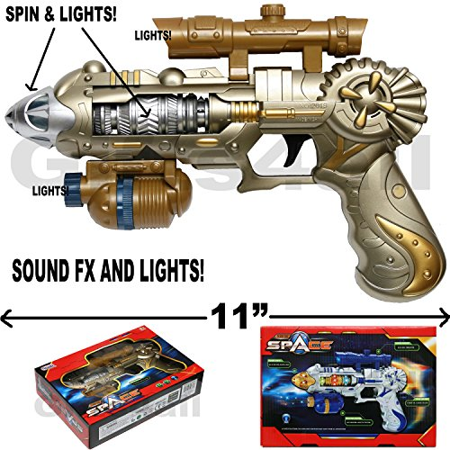 COLOSSUS LIGHT-UP SPACE GUN TOY WEAPON FX SOUNDS AND LIGHTS]()