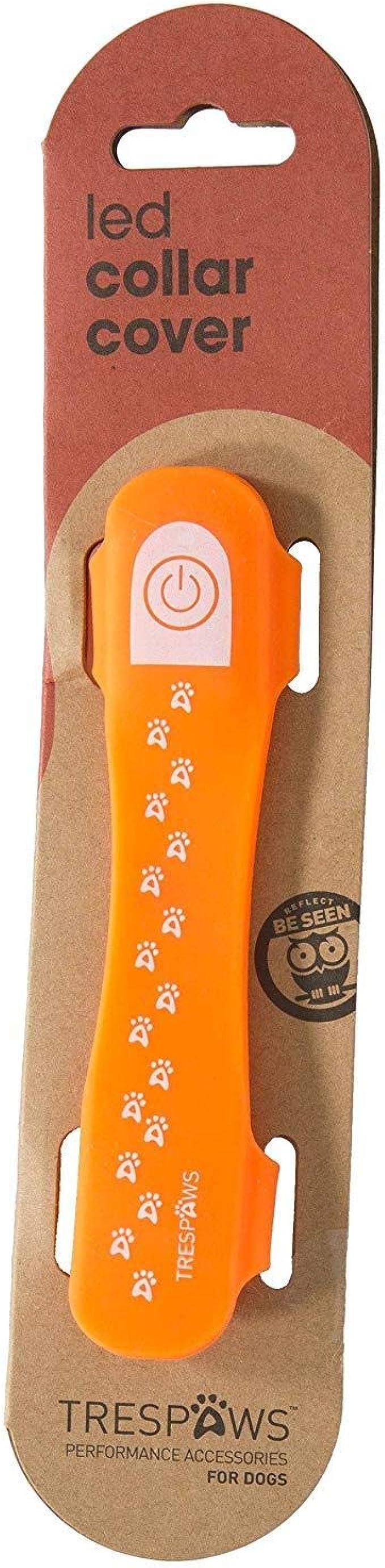 Trespass trespaws discoteca Perro Hi-Vis Repelente Al Agua Clip LED Collar de perro