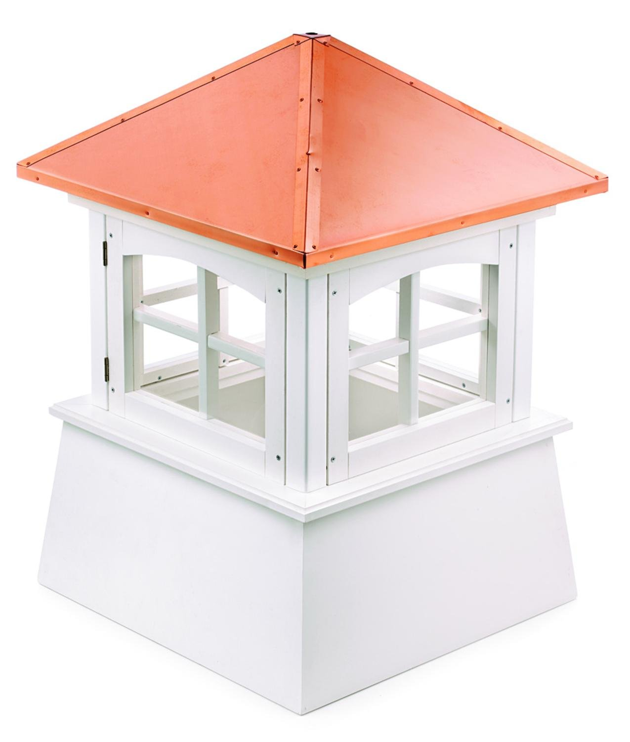 102'' Handcrafted ''Windsor'' Copper Roof Vinyl Cupola by CC Home Furnishings