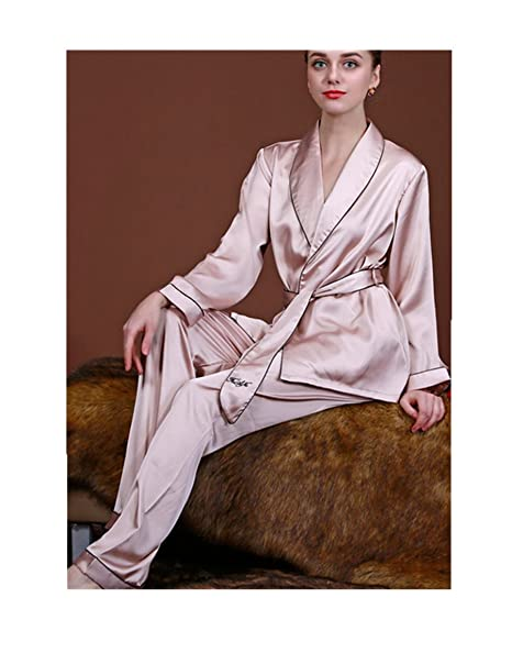 C.X Trendy Mujer – Juego de seda pijama pijamas pijamas