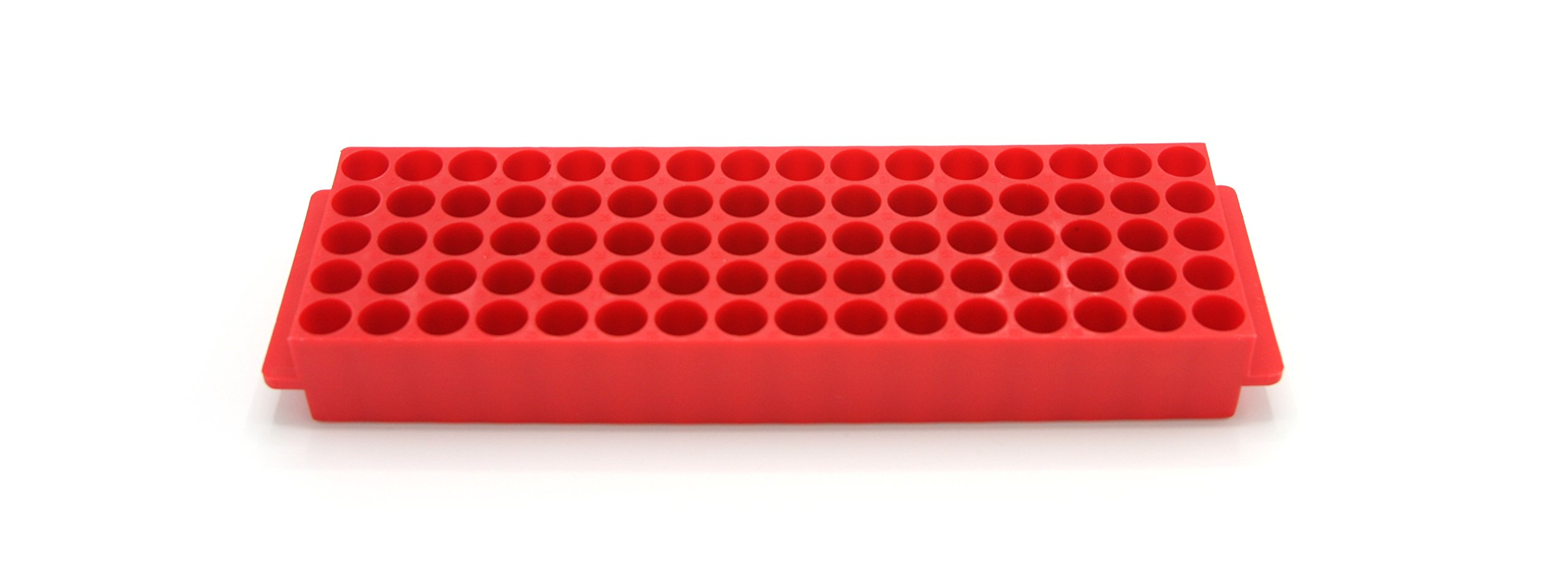 Heathrow Scientific HS29025J Microtube Rack, 80 Wells, Polypropylene, Red (Pack of 5) by Heathrow Scientific