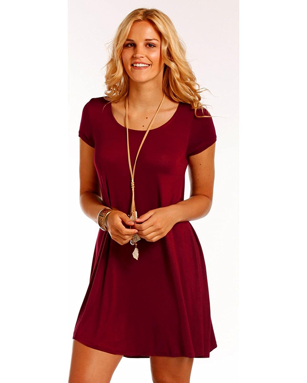cce393121a97 Panhandle Women's Cap Sleeve Dress - J0-4184-Win at Amazon Women's Clothing  store: