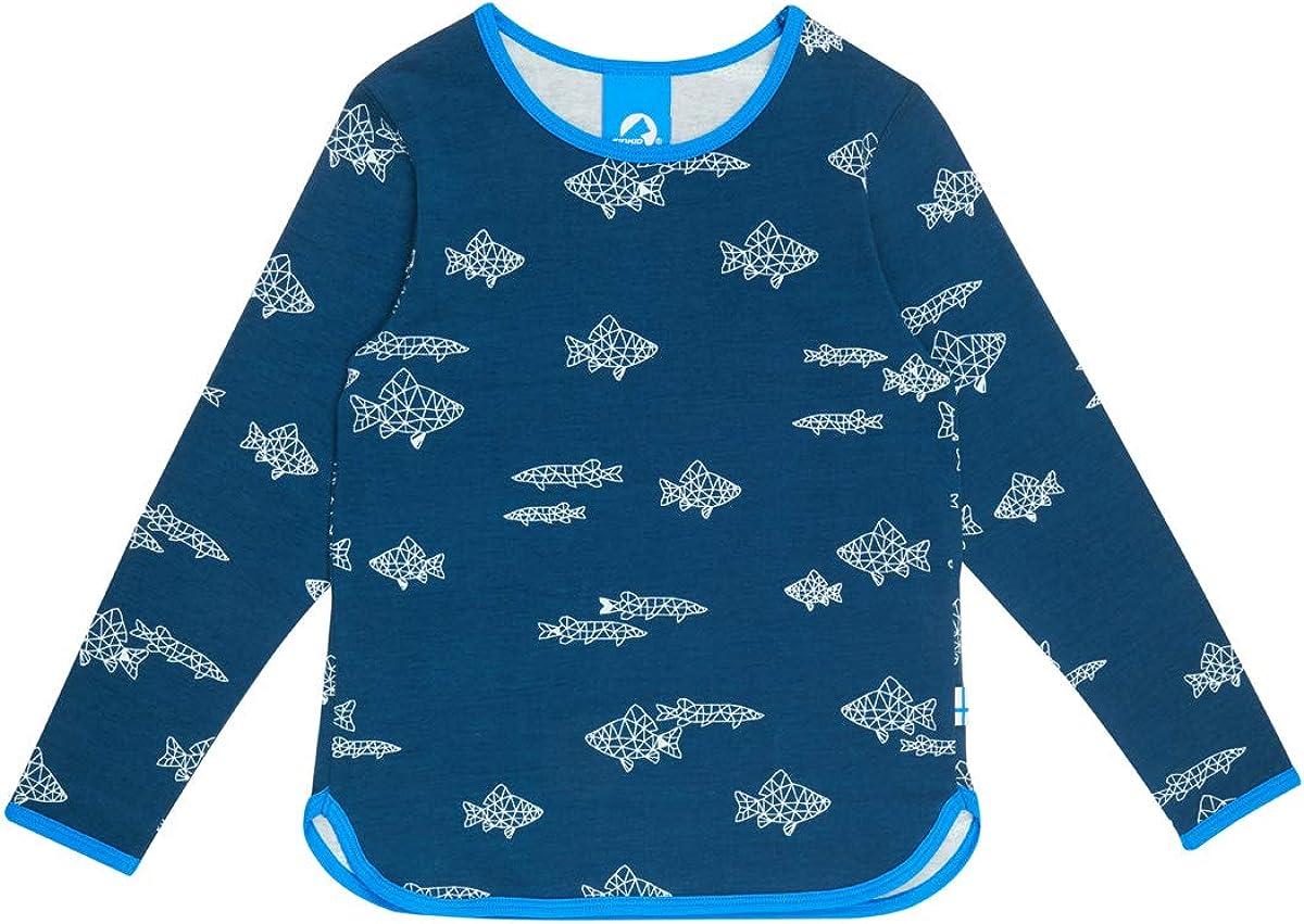 Finkid Valo Kinder Sommer Langarmshirt mit Tiermotive