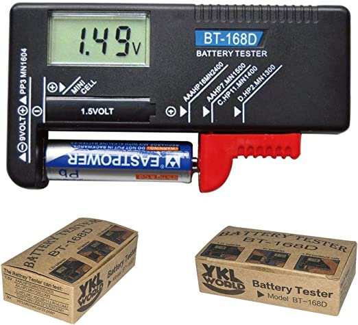 LCD Digital Battery Tester BT-168D For AA AAA 9V  Button Cell Batteries Tool USA