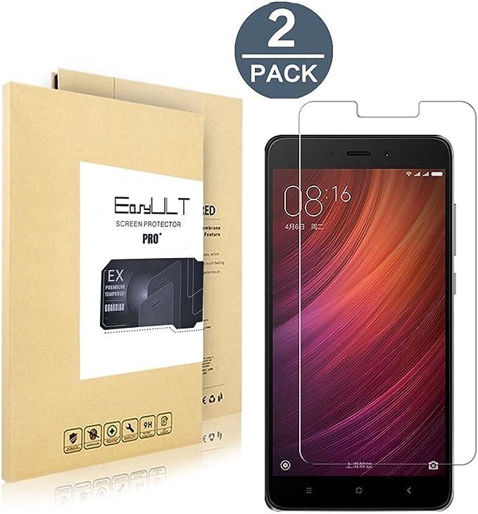 EasyULT [2 Pack] Xiaomi Redmi Note 4(Pro) Protector de Pantalla ...