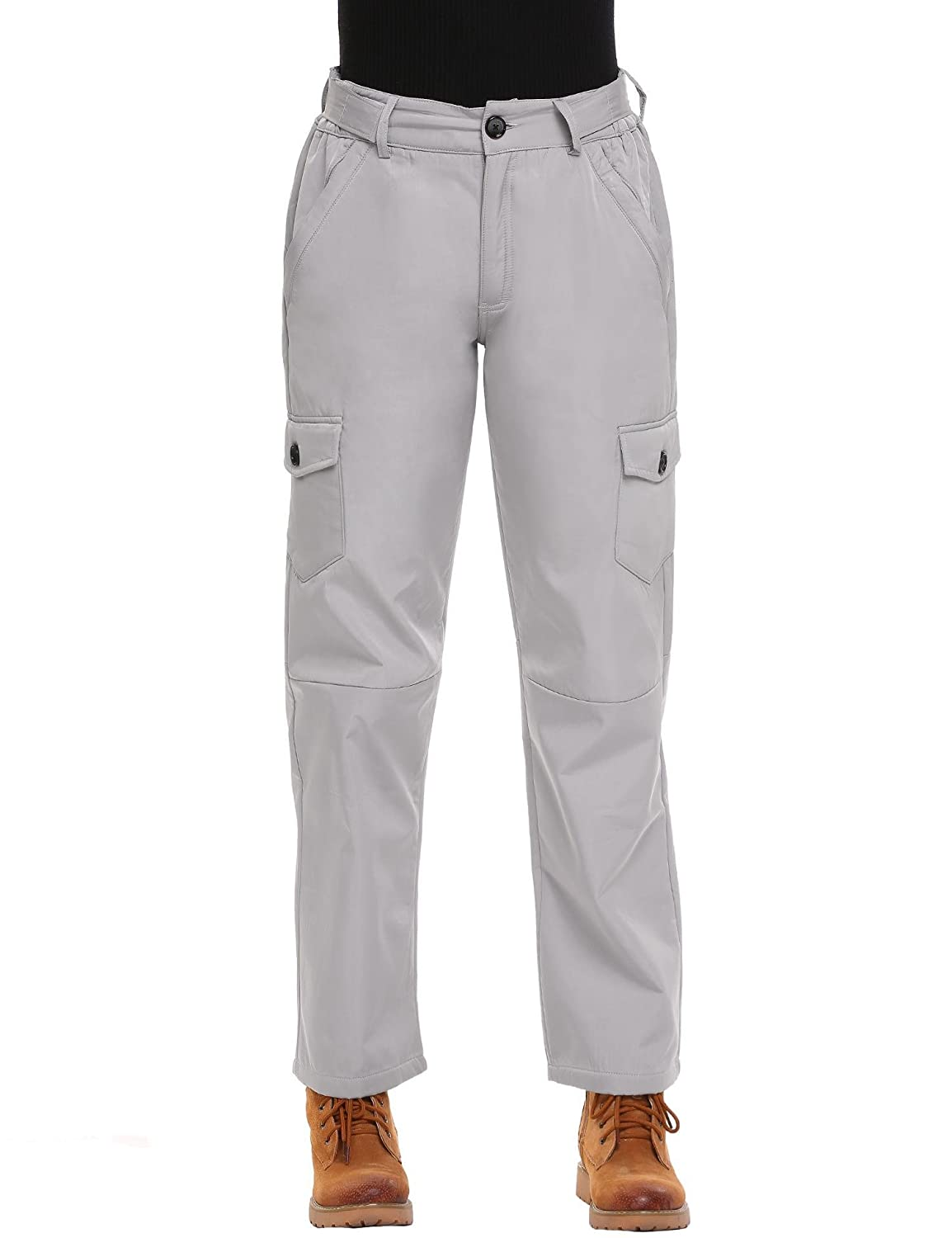 wholesale online convenience goods clear-cut texture Nessere Womens Loose Snow Pants Casual Waterproof Sweatpants ...