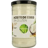 Naturitas Aceite de Coco   1L   Virgen extra   Bio   Efecto antibacteriano   Perfecto para cocinar   Hidratante de…