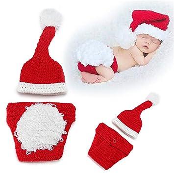 CAR Bebé Recién Nacido Navidad Santa Crochet de Punto Fotografía ...