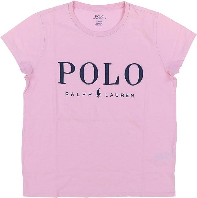 Polo Ralph Lauren - Camiseta de cuello redondo para mujer - Rosa ...