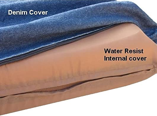 Quantity 2 Small Medium Memory Foam Pad Pet Bed External Denim cover Waterproof case for dog and cat