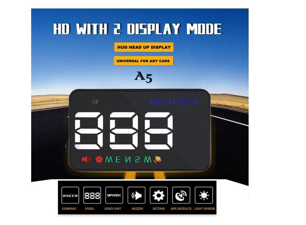 Heads Up Mostrar Coches Universal GPS Velocímetro 3,5 Pulgadas HUD Brújula De Coche Digital Con El Puerto De Encendedor De Cigarrillos, Velocidad, Brújula, ...