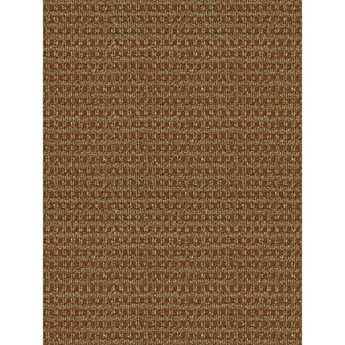 Rug Checkered Taupe/Walnut 6ft x 8ft Indoor/Outdoor