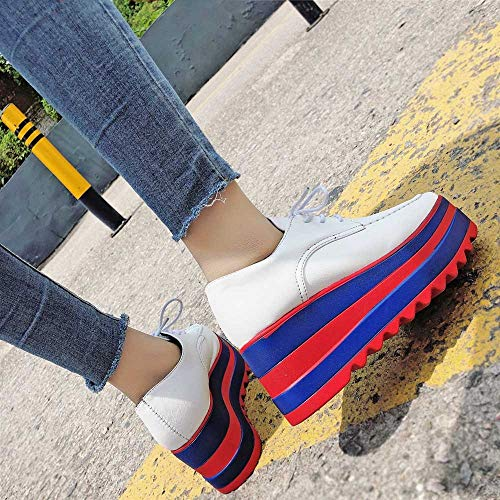 Derby Marque Flamenco Semelle Andres Oxford Mode tudiant Blanco Betis Lacets Alikeey Chaussures Casual Augmenter Femmes 7RFnq4