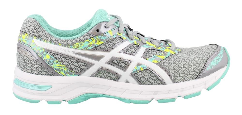 ASICS Women's Gel-Excite 4 Running Shoe B01MR8CKQZ 10 B(M) US|Mid Grey/White/Ice Green
