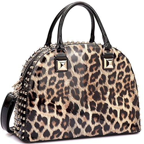 Bag Fashion Leopard (MKP Collection Holiday shoulder handbag.Beautiful Purse. Designer Satchel for woman.Top handle bag. Shoulder handbag for all season (2858) Leopard)