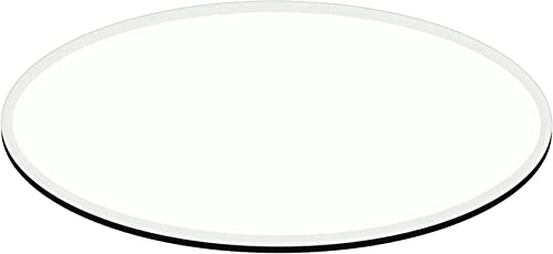 Fab Glass and Mirror 1 2 Thick 1 Beveled Tempered Glass E-Oval Elliptical Table Top, 28 X 54