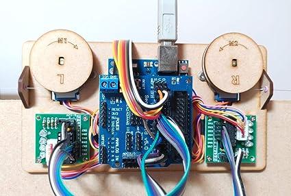 Dibuje Pintura de Pared del Robot con el Cable Plotter Arduino proyectista Kit Polar Gráfico con Motor DIY Stem Juguete de Piezas (Color : Frame): Amazon.es: Juguetes y juegos