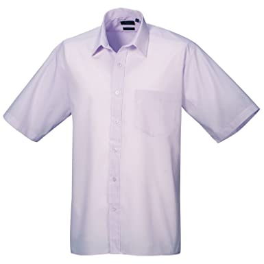 Premier Workwear Poplin Short Sleeve Shirt-Camisa Hombre Morado Lila 15: Amazon.es: Ropa y accesorios