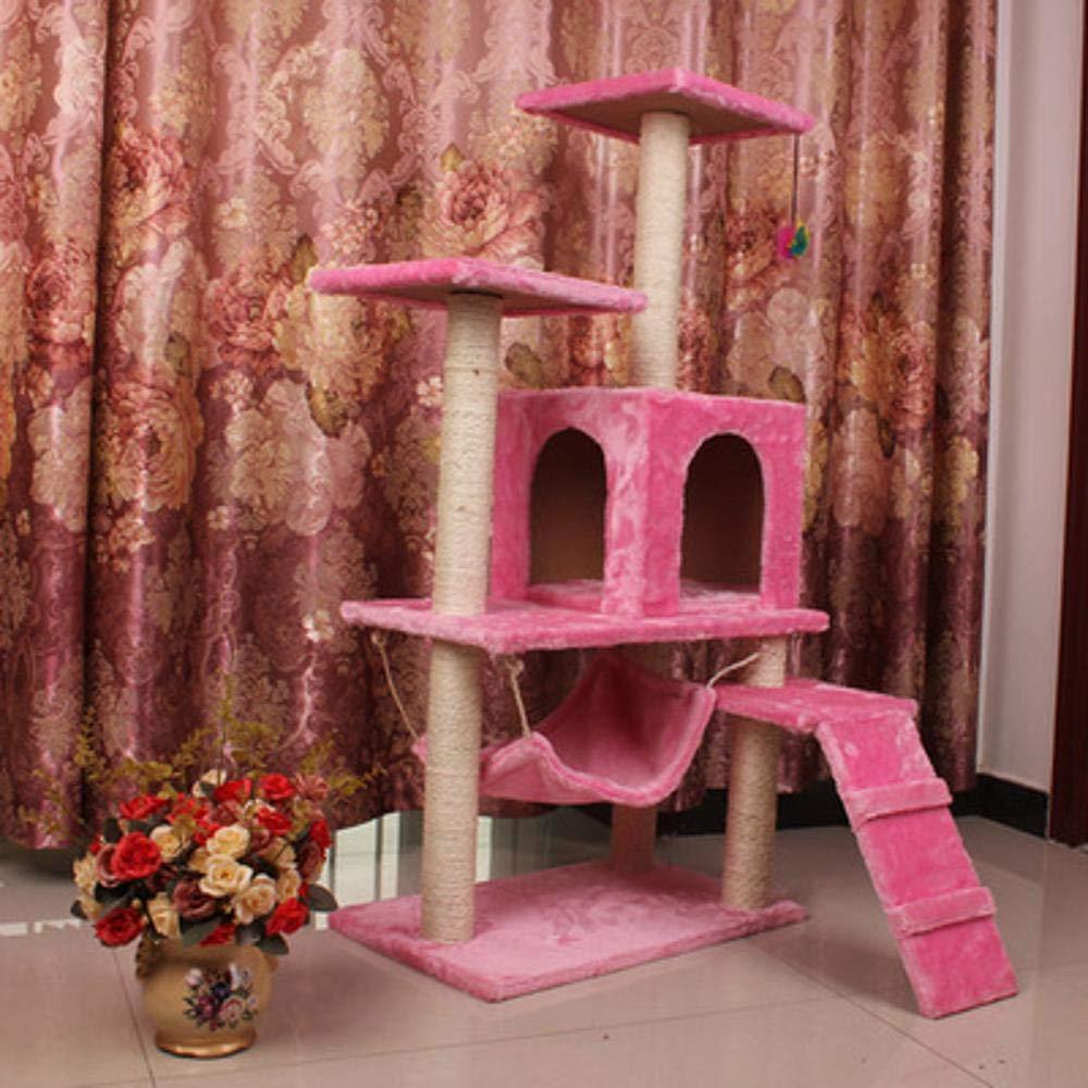 C Hexiansheng Cat Climb Trees Cat Litter Cat Rack Hemp mat big cat rack Cat Scratch Board Cat scratch pillar Cat platform 40  50  100cm