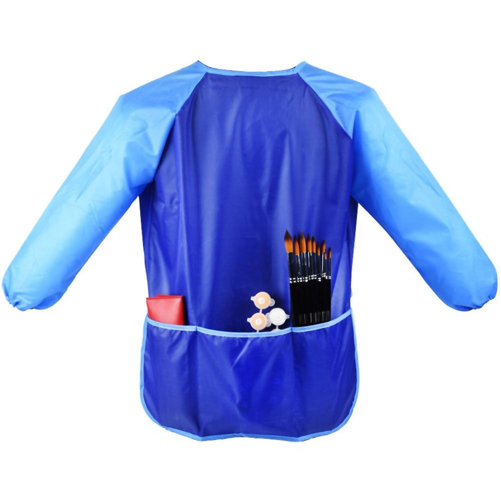 VORCOOL Wasserdichte Malkittel Schürzen für Kinder (Blau)
