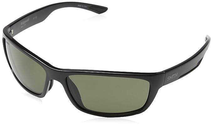 596777825471 Image Unavailable. Image not available for. Colour: Smith Ridgewell D28 L7  Shiny Black Plastic Sunglasses Green ChromaPop Polarized Lens