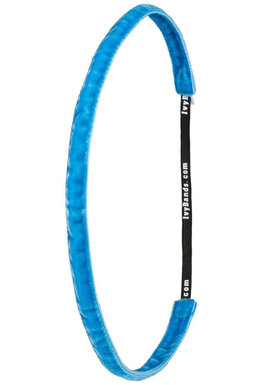 Ivybands®   Das Anti-Rutsch Haarband   Türkis Beidseitig Samt Haarband   1, 2 cm breites Türkis blaues Haarband   One size   IVY792