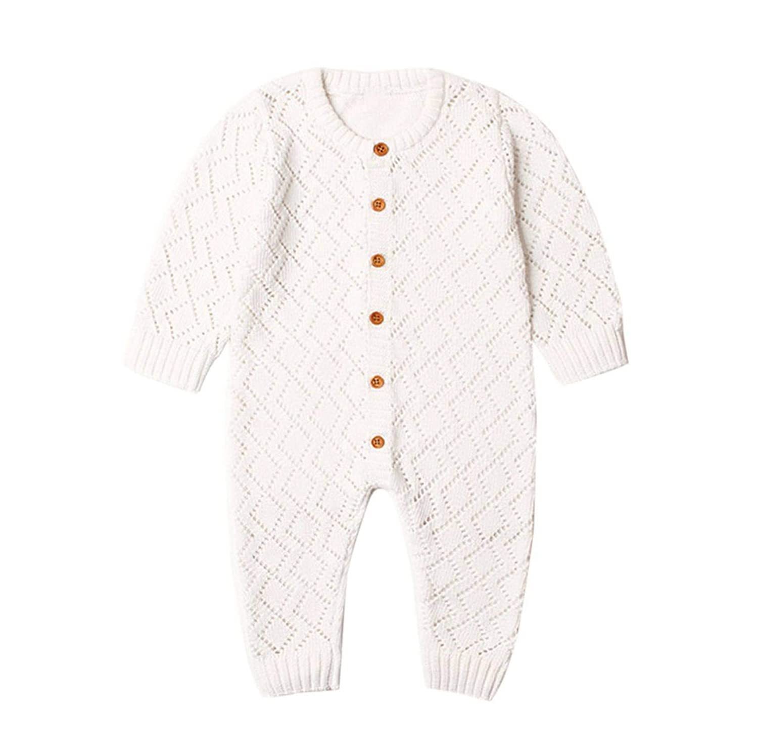 SMALL FAT Jumpsuit Girls Candy Color Knitted Long Sleeve Newborn Baby Clothes Infant Boy Overall Children Outfit Spring