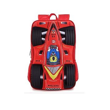 Mochila Escolar 3D F1 Racing Mochila Estudiantil Mochila Infantil Caricaturas Niños y Niñas Mochilas Escolares Rojo: Amazon.es: Equipaje