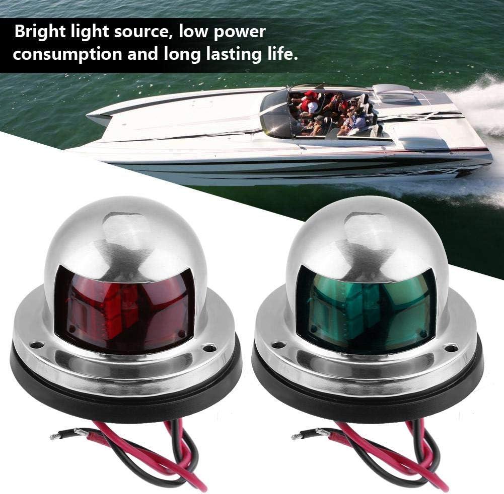 Yctze Luz de navegaci/ón LED 2Pcs 12V LED L/ámpara de luz de se/ñal de navegaci/ón a prueba de agua para Marine Boat Yacht Verde//Rojo