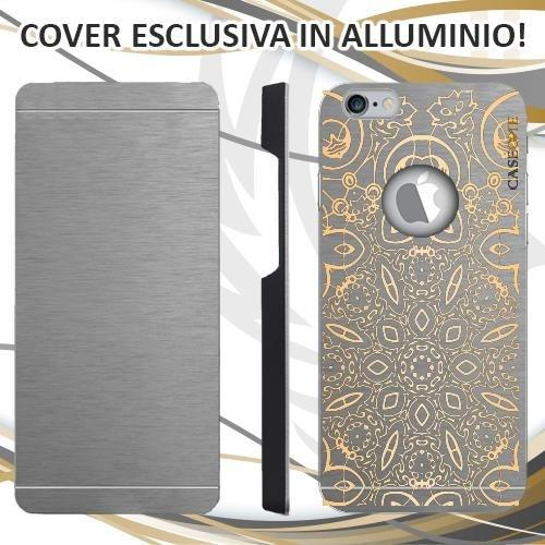 CUSTODIA COVER CASE ORNAMENTALE ORO PER IPHONE 6 ALLUMINIO TRASPARENTE