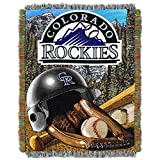 "The Northwest Company MLB Colorado Rockies Home Field Advantage Woven Tapestry Throw, 48"" x 60"