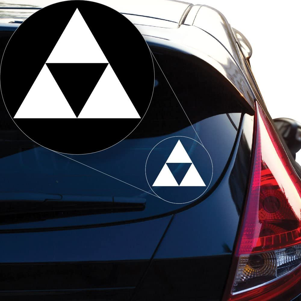 """Yoonek Graphics Zelda Triforce Vinyl Decal Sticker for Car Window, Laptop and More. # 922 (4"""" x 4.6"""", White)"""