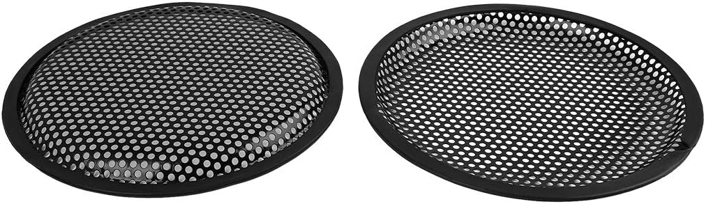 X AUTOHAUX 2pcs Grill Cover 8 Mesh/Protector Car Speaker Cover Woofer Subwoofer Grill Black for Honda Nissan