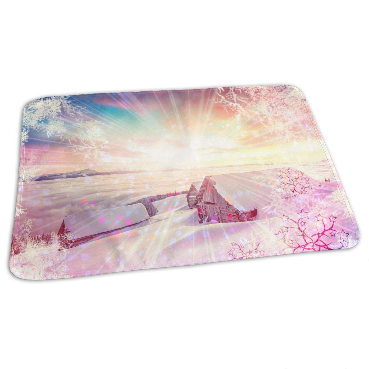 Osvbs Lovely Baby Reusable Waterproof Portable Colorful Winter Sunrise in The Mountains Changing Pad Home Travel 27.5''x19.7'' by Osvbs