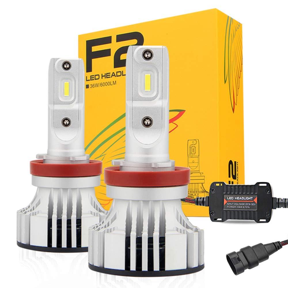 CATIZON H11 LED Headlight Bulbs Conversion Kit(H8,H9) – CREE Chips 72W 12000LM Cool White 6500K - Low Beam/High Beam/Fog Light Bulb, 2 Year Warranty