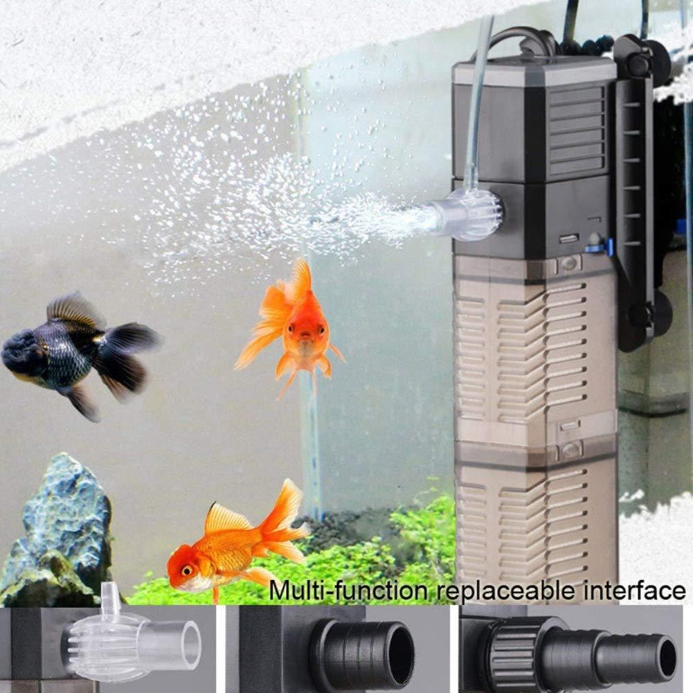 25W MC.PIG Internal Aquarium Filter Fish Tank Filter 3-in-1 Aquarium Submersible Pump Water Pump for Fish Tank 7W 8W 20W 25W (Size   25W)