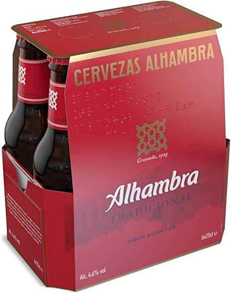 Alhambra Tradicional Cerveza Lager, 4.6 % Volumen de Alcohol ...
