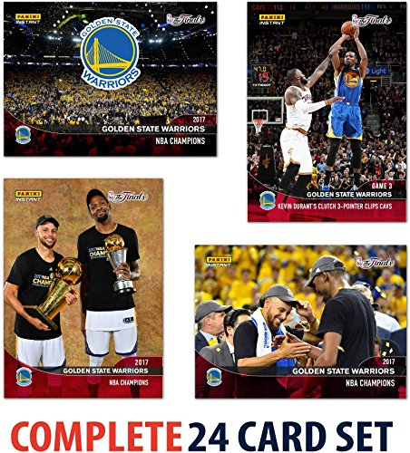 Basketball Team Set - 2017 Panini Instant Golden State Warriors NBA Champions Complete Trading Card Set (24 Cards) - Basketball Team Sets