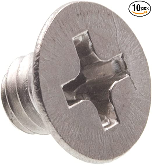 Machine Screws M4 x 10 Phillips Flat Head Steel Zinc Plated Lot of 95 #0573