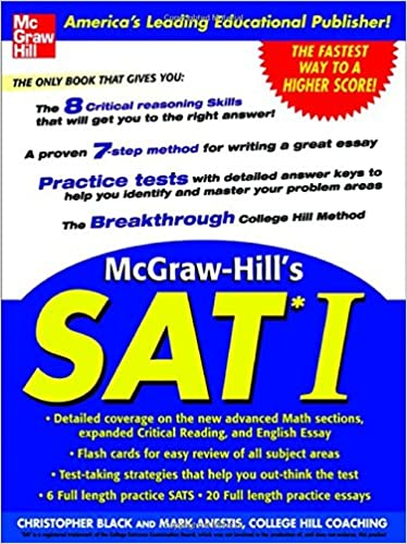 McGraw-Hill's SAT I: Christopher Black, Mark Anestis: 9780071423908