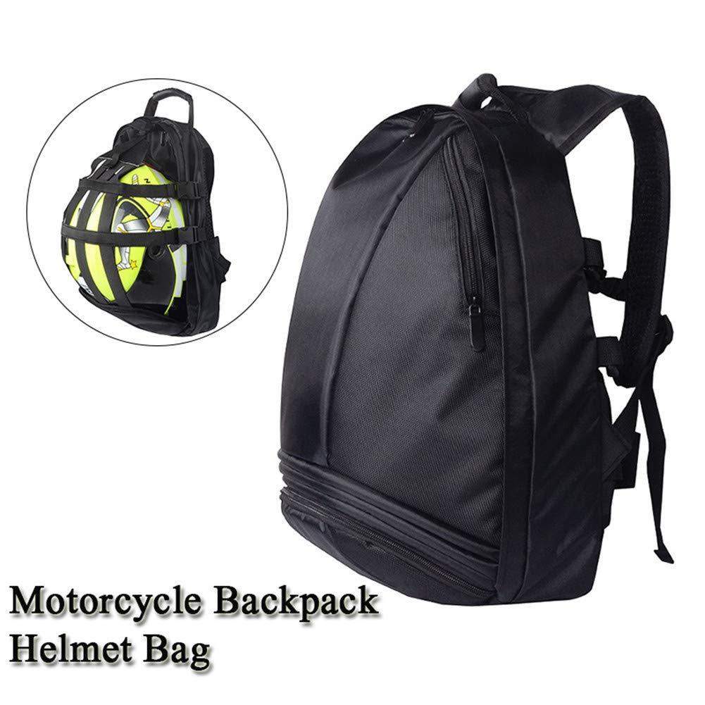 Reflective Motorcycle Helmet Backpack, Motorbike Helmet Backpack Waterproof 36L Large Capacity, Cycling Storage Bag (Black)