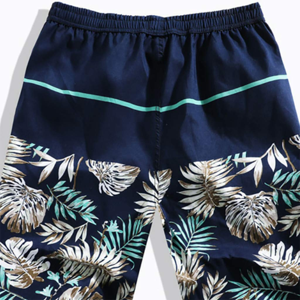SENDRY Mens Printed Swimming Trousers in Spring and Summer Beach Surfing Shorts