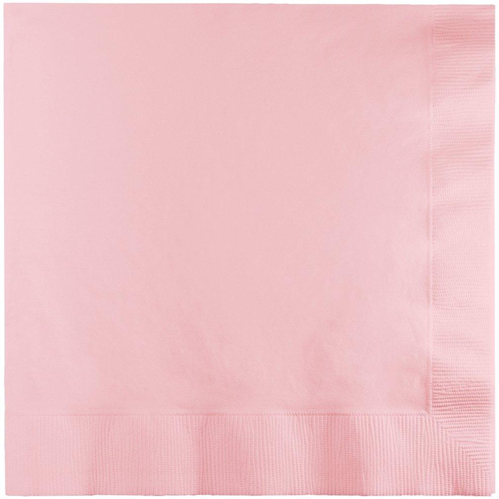Creative Converting 573274 Beverage Napkins 5 x 5 Classic Pink