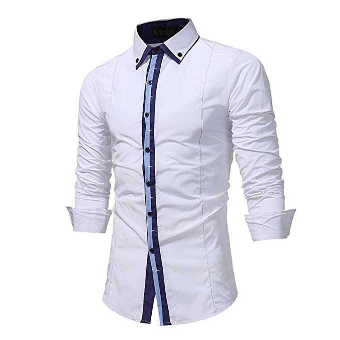 Yvelands Summer Mens Guapo Personalidad de la Moda Panel de Solapa Ocasional Formal Slim-Down