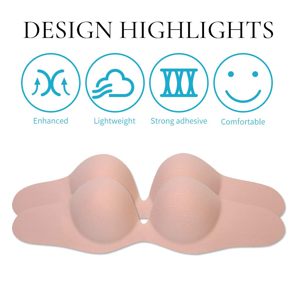 Strapless Backless Sticky Bra for Women Plunge U Shape Bras Push up Self Adhesive Bras【New 2019】