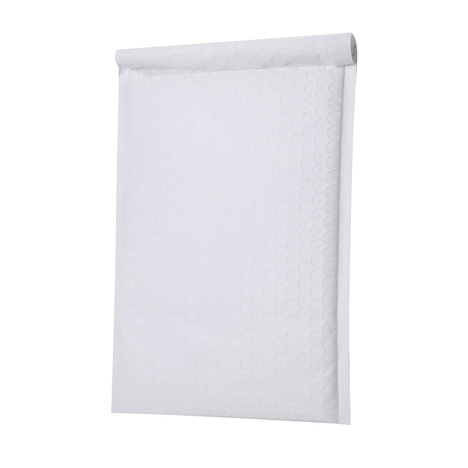 Yomuse #3 Extra Wide 9.45 x 13 Poly Bubble Mailer Self-Seal Padded Envelopes fit A4 Paper, Pack of 25, Purple