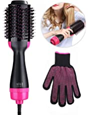 Hair Styler Hot Air Brush, Womdee One Step Hair Dryer and Volumizer 3-In-1 Hair Dryer & Volumizing Style Salon Negative Ion Hair Straightener & Curly Hair Comb with Anti-Scald Feature for All Hair