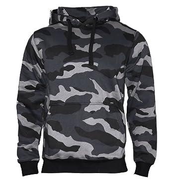 quality design a5736 e8deb Rock-It Kapuzenpullover Hoodie Workerhoodie Kapuzen Sweatshirt - Herren  -380g hochwertig und Sehr Soft - Schwarz und Camouflage Original