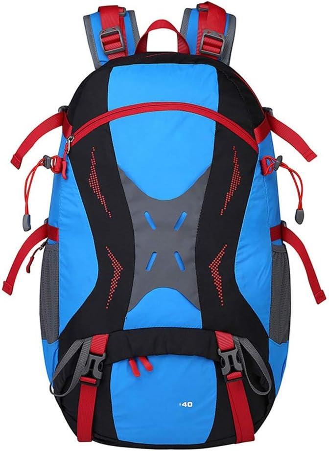 実用的 スポーツアウトドア登山バッグハイキングレジャースポーツバックパック/男性/女性アウトドアスキンバッグ (色 : 青) 青