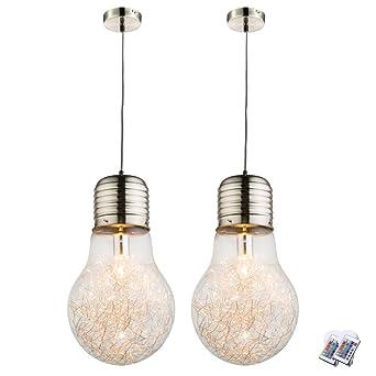 2 Maille Rgb Plafond Ensemble Led De Suspendues Lampes Du 43L5AcjRq